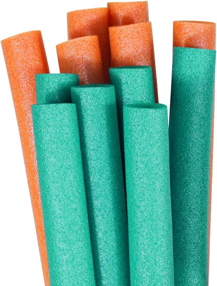 Pool Mate Special price for a limited time Raleigh Mall Premium Swimming Noodles 12-Pack Teal and Orange