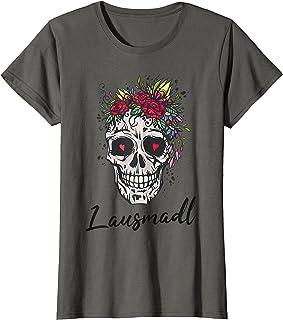 Freches Lausmadl Lausmadl Totenkopf Bayern Madl Blumen Süß Frauen Mädchen T-Shirt