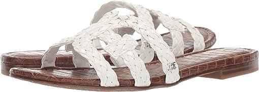 Bright White Woven Nappa
