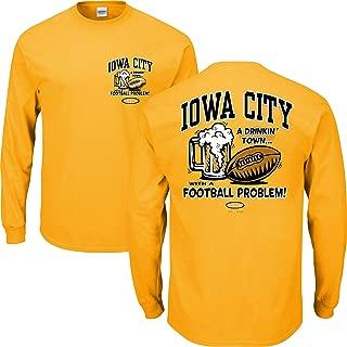 Smack Apparel Iowa Football Fans. Iowa City Drinking Town Gold T Shirt (Sm-5X)