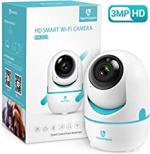 HeimVision 3MP Security Camera, HM202A Wireless WiFi Camera with Smart Night Vision/2 Way Audio/Motion Detection, Home Indoor Surveillance Camera for Kids/Pet/Dog, Baby Monitor, Support Cloud/MicroSD