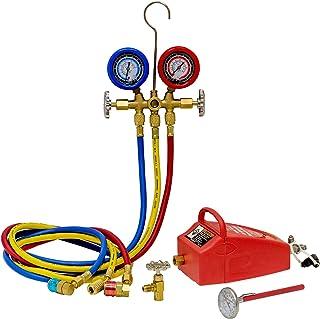 OEMTOOLS 68991 A/C Service Set with Air Vacuum Pump - R134a