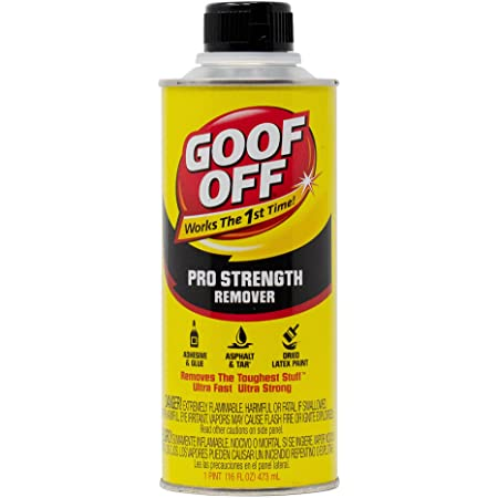 Goof Off FG653 Professional Strength Remover, Pourable 16-Ounce,Liquid