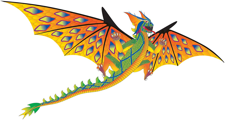 WindNSun Super Size 3D Green Dragon 100% quality warranty! Wide Kite Luxury goods 76 Nylon Inches