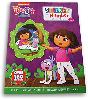 Activity Books Dora The Explorer Sticker by Numbers Book - Over 160 Stickers and 6 Vibrant Pictures to Fill in!