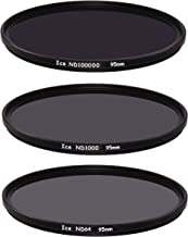 ICE Extreme ND Filter Set 95mm ND100000 ND1000 ND64 Neutral Density 95 16.5,10, 6 Stop Optical Glass
