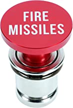 OMNI Factory Novelty Fire Missile Button Cigarette Lighter Cover Universal Design Fits Most Vehicles with Standard 12 Volt Power Source
