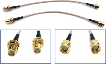 Pack of 2 RF RG316 SMA Male to SMA Female Nut Bulkhead Crimp Antenna Low Loss Coaxial Cable (12 inch (30 cm))