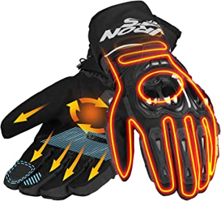 Winter 12V Heated Gloves,Motorcycle Rechargeable Battery Powered Heated Riding Gloves for Biking Cycling Outdoor