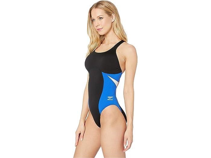 Speedo Chispa De Empalme Super Pro One-piece Black/blue Swimwear