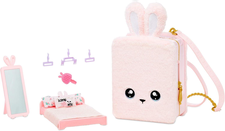 Na! Na! Na! Surprise 3-in-1-Rucksack-Schlafzimmer-Pinkhasen-Spielset mit limitierter Aubrey-Herzpuppe Pink Bunny