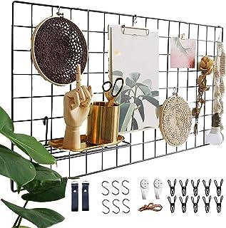 Actualice el estante de la rejilla de la pared, la rejilla de hierro DIY de la foto, la decoración de la pared, el pizarró...