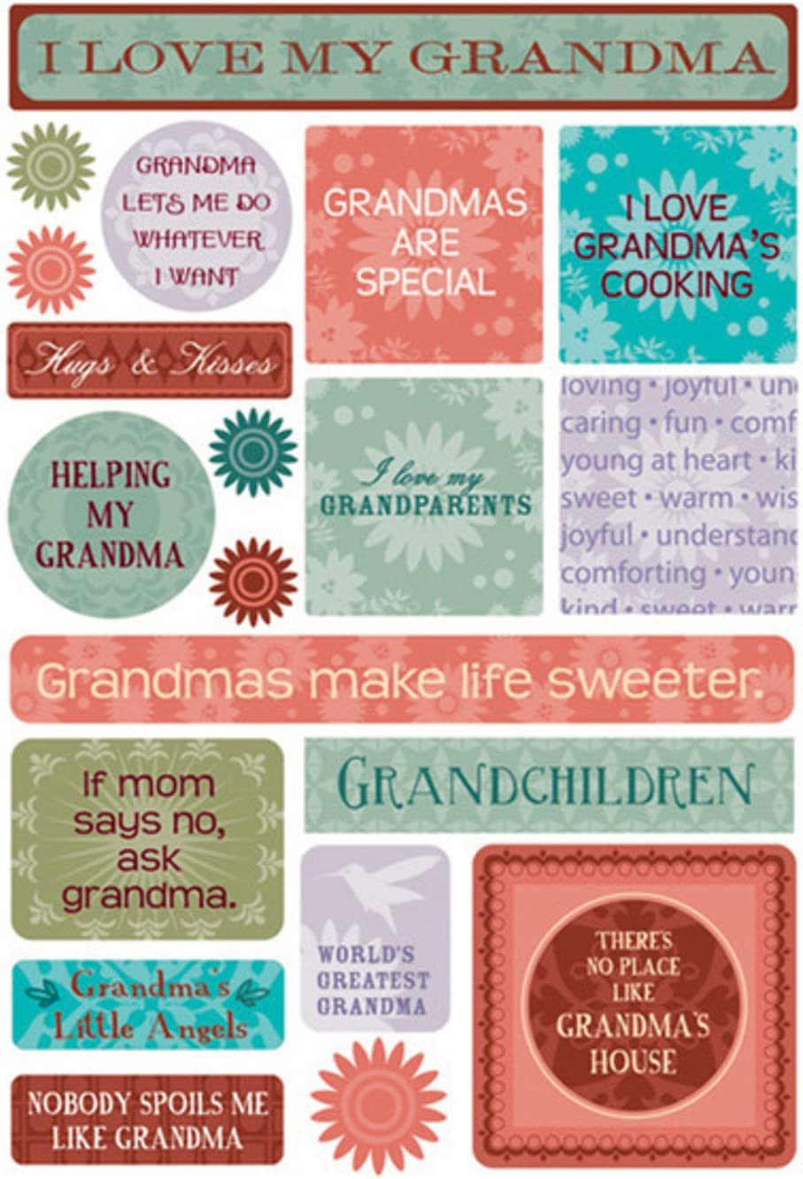 Karen Max 76% OFF Foster Cardstock Stickers Grandma My OFFicial mail order -