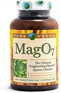 Pure Vegan Mag O7 Oxygen Digestive System Cleanser Capsules, 120 Count