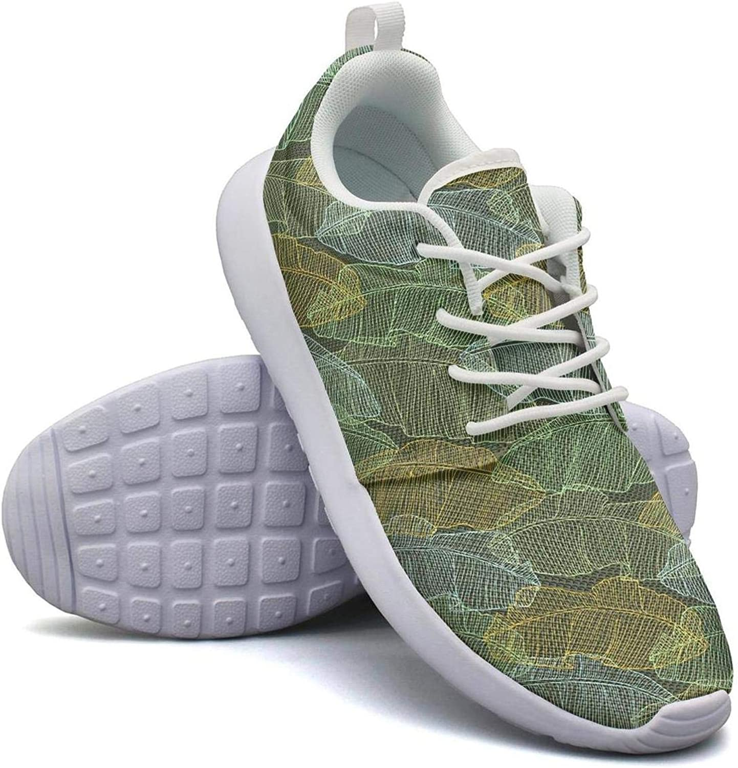CHALi99 Breathable Womens Lightweight Mesh shoes Palm Tree with Coconuts Sneakers Walking Shock Absorbing