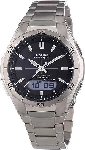 Casio Wave Ceptor Homme Analogique-Digital Quartz Montre avec Bracelet en Titane WVA-M640TD-1AER