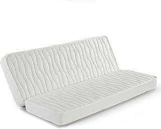 marckonfort Colchón Clic clac 130x200 para Sofa Cama, 13 cm de Altura, Tela Strech con Ribete de Seguridad