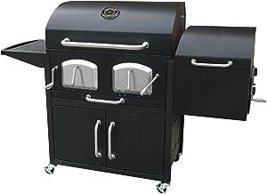 Landmann 591320 Smoky Mountain Bravo Premium Charcoal Grill with Offse, Black
