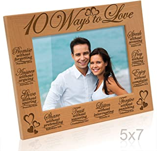 Kate Posh - 10 Ways to Love Bible Verses - Promise, Answer, Give, Share, Trust, Listen, Forgive, Speak, Pray & Enjoy - Picture Frame (5x7 Horizontal)