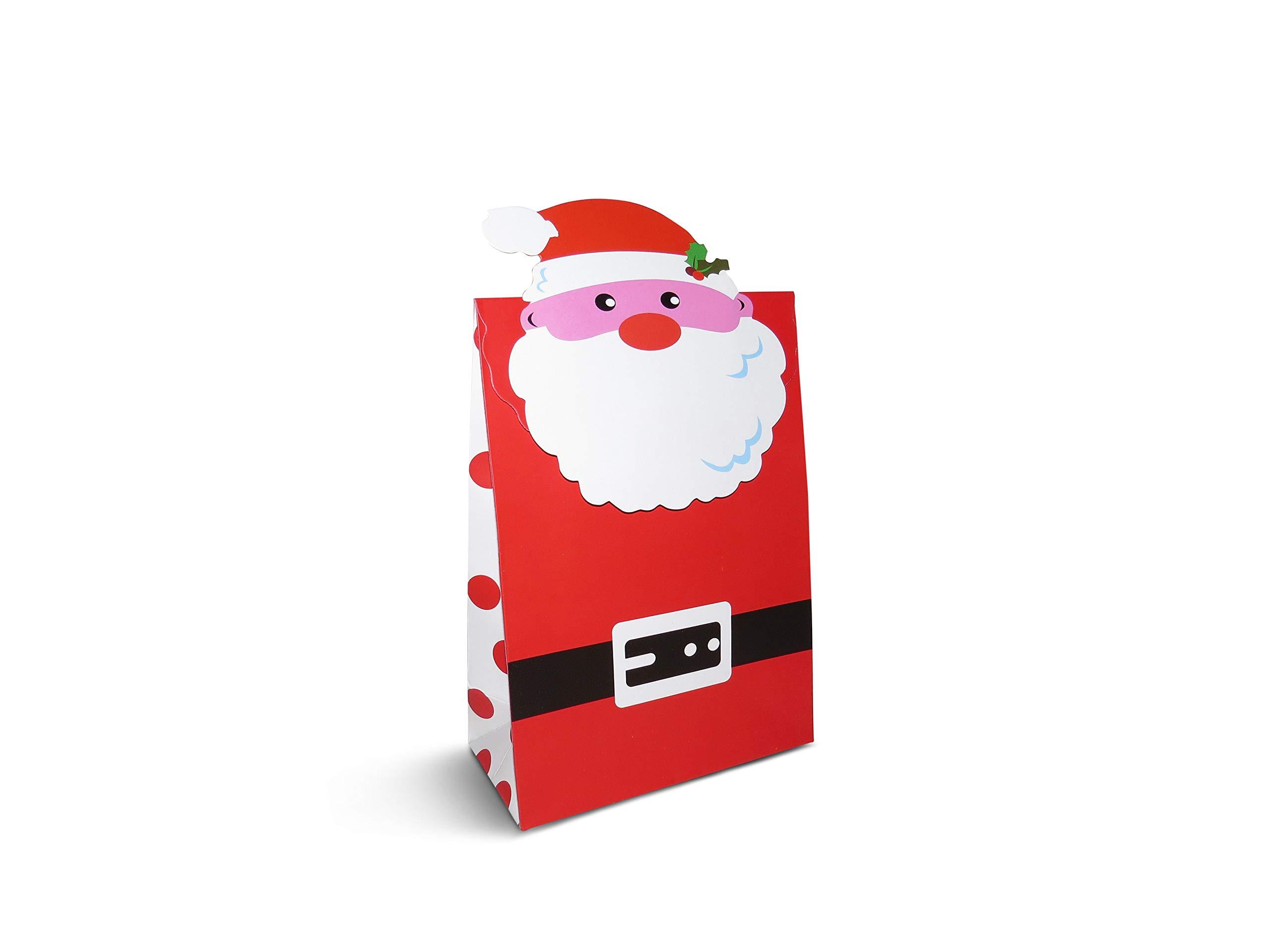 Pack de 12 cajas de regalo de Navidad con velcro, bolsas de regalo para regalos de regalo: Amazon.es: Oficina y papelería