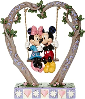 """Jim Shore Disney Traditions Mickey & Minnie On Swing """"Sweethearts in Swing"""""""