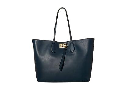Salvatore Ferragamo The Studio Tote (Mezcal Teal) Handbags
