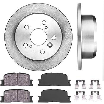 4 Ceramic Pads 2 OEM Replacement Disc Brake Rotors High-End Front Kit Fits:- 5lug