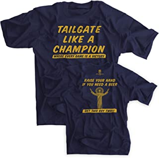 Tailgate Like a Champion Notre Dame Fans Navy Shirt - Large