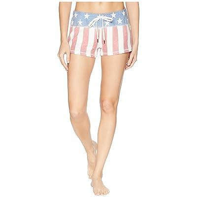 P.J. Salvage 76 Vibes Flag Shorts (Ivory) Women