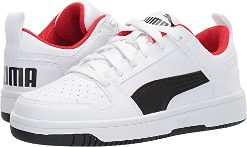 Puma White/Puma Black/High Risk Red