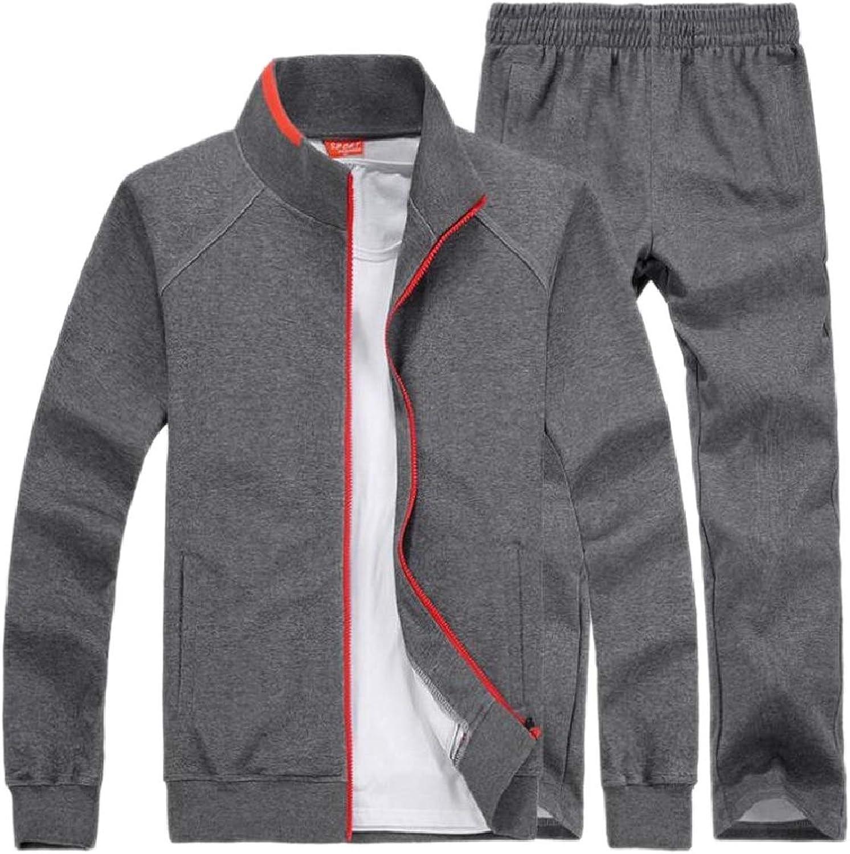 CBTLVSN Men's Coats Jogger Pants 2 Piece Set Big and Tall Sports Tracksuits