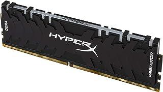 HyperX Predator DDR4 RGB 64GB Kit 3000MHz CL15 DIMM XMP RAM Memory/Infrared Sync Technology- Black (HX430C15PB3AK4/64)