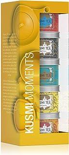 Kusmi Tea – Geschenkset Moments mit 5 Minidosen – Auswahl aromatisierter Tees – Schwarztees, Earl Grey und der exotische Früchtetee Mischung AquaExotica – 5 x 25 g Metalldosen