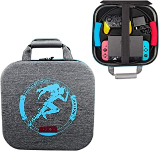 Deluxe Hard Shell Storage Carrying Bag Travel Carrying Case with 24 Game Card Slots Compatible with Nintendo Switch Consol...