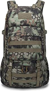Mardingtop 40L Tactical Backpacks Molle Hiking daypacks for Camping Hiking Military Traveling Motorcycle(With Rain-cover)