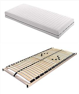 Matratzenset OrthoMatra KSP-500 und Lattenrost Max1 NV zur Selbstmontage Größe 90 x 200 cm, Farbe H2