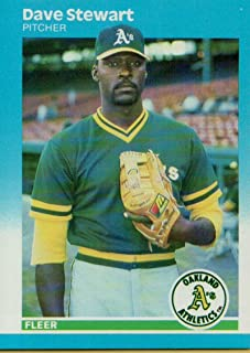1987 Fleer #406 Dave Stewart Oakland Athletics MLB Baseball Card NM-MT