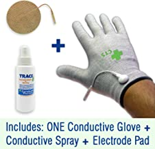 Conductive Glove Package for TENS Electrode Pain Treatment & Diabetes, Neuropathy, Carpal Tunnel, Arthritis Electrotherapy - 1 Glove - Silver Thread (Medium)