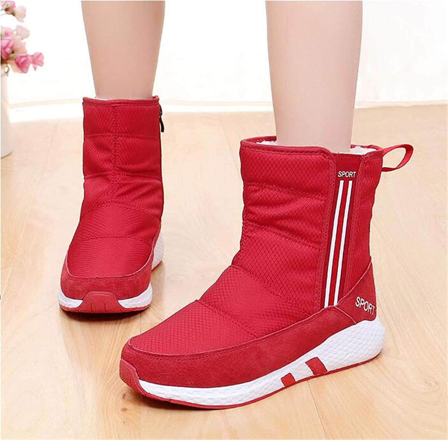 Sianaoi Cute Cat Warm Boots Women Family Christmas Cotton Winter shoes Women Boot Red