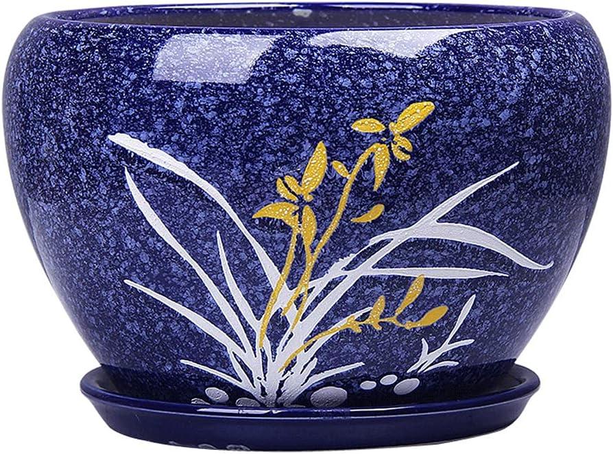 Indefinitely Juudoiie Pot Ceramic Wholesale Green Simple Potted Chlorophytum Cheap mail order shopping