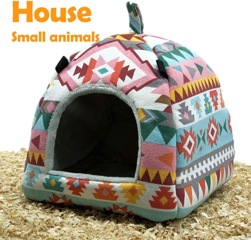 CAISHOW Guinea Pig Hamster Bird Squirrel Ferret Suger Glider Hedgehog Chinchillas Bed Hammock Winter Warm Small Pet Animal Hanging Home House Cotton Cage Nest Tent