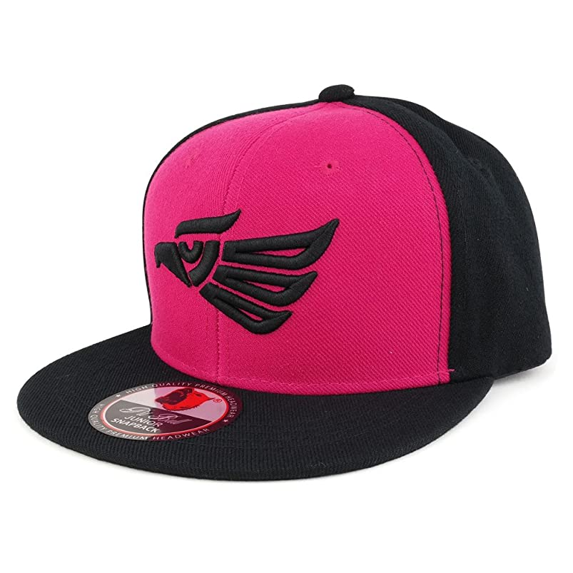 Trendy Apparel Shop Hecho EN Mexico Kids 3D Eagle Embroidered Logo Flatbill Snapback Cap avwwkkqp787793