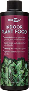 Liquid Indoor Plant Food, All-Purpose Indoor Plant Fertilizer, Liquid Plant Food, Easy Peasy Plants House Plant Fertilizers 4-3-4 Plant Nutrients, House Plant Food | Lasts Same as 16 oz Bottle