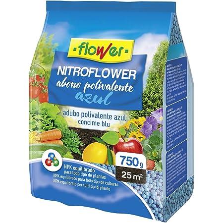 Flower 10528 10528-Abono polivalente, 750 g, Color Azul, No Aplica, 13.5x3x25.5 cm