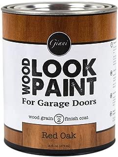 Giani Wood Look Paint for Garage Doors- Step 2 Wood Grain Finish Coat, Pint (Red Oak)