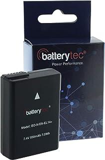 Batterytec® Replacement cámara Batería para Nikon EN-EL14 D3300 D3400 D5300 D5500 D5600 D3200 D5200 D5100 D3100 D3S DF Nikon Coolpix P7000 P7100 P7700 P7800. [Recargable12 Meses de garantía]