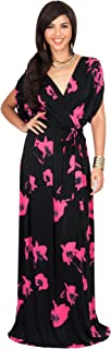 Womens Long Sexy V-Neck Wrap Cross Over Cocktail Floral Print Maxi Dress