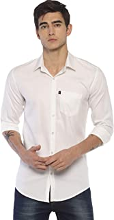 LEVIZO 100% Cotton Plain Solid Casual Classic Fit Shirt Full Sleeves for Men…