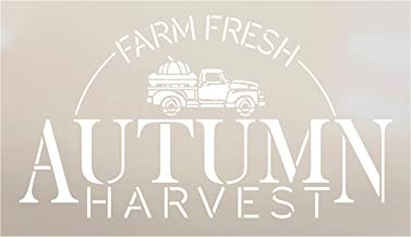 Farm Fresh Autumn Harvest with Vintage Pumpkin Truck Stencil by StudioR12 | Paint Signs | Word Art Reusable | Family Dining Room | Paint Chalk Mixed Media Multi-Media | DIY Home - Choose (6