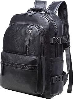 Laptop Backpack Pu Leather Backpack Business Backpack Schoolbag